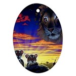 2-77-Animals-Wildlife-1024-010 Oval Ornament (Two Sides)