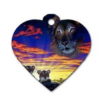 2-77-Animals-Wildlife-1024-010 Dog Tag Heart (One Side)
