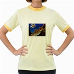 2-74-Animals-Wildlife-1024-007 Women s Fitted Ringer T-Shirt