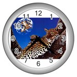 2-74-Animals-Wildlife-1024-007 Wall Clock (Silver)