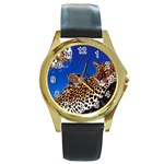 2-74-Animals-Wildlife-1024-007 Round Gold Metal Watch