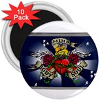 Mind_-Body-_-Soul-Tattoo-Belt-Buckle 3  Magnet (10 pack)