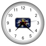 Mind_-Body-_-Soul-Tattoo-Belt-Buckle Wall Clock (Silver)