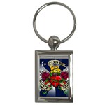 Mind_-Body-_-Soul-Tattoo-Belt-Buckle Key Chain (Rectangle)
