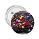 Love-Hurts-Tattoo-Chrome-Belt-Buckle 2.25  Button