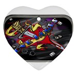 Love-Hurts-Tattoo-Chrome-Belt-Buckle Ornament (Heart)