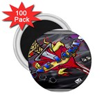 Love-Hurts-Tattoo-Chrome-Belt-Buckle 2.25  Magnet (100 pack)