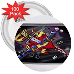 Love-Hurts-Tattoo-Chrome-Belt-Buckle 3  Button (100 pack)