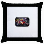 Love-Hurts-Tattoo-Chrome-Belt-Buckle Throw Pillow Case (Black)