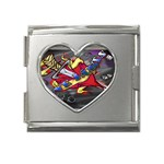 Love-Hurts-Tattoo-Chrome-Belt-Buckle Mega Link Heart Italian Charm (18mm)
