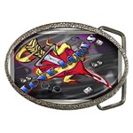 Love-Hurts-Tattoo-Chrome-Belt-Buckle Belt Buckle