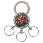 Love-Hurts-Tattoo-Chrome-Belt-Buckle 3-Ring Key Chain