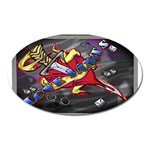 Love-Hurts-Tattoo-Chrome-Belt-Buckle Magnet (Oval)