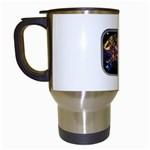 Love-Hurts-Tattoo-Chrome-Belt-Buckle Travel Mug (White)