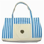 LARK60 Striped Blue Tote Bag