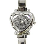 lark57 Heart Italian Charm Watch