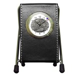 lark57 Pen Holder Desk Clock