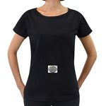 lark57 Maternity Black T-Shirt
