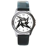 lark48B Round Metal Watch