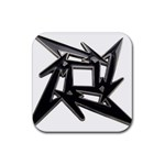 lark48B Rubber Square Coaster (4 pack)