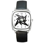 lark48B Square Metal Watch