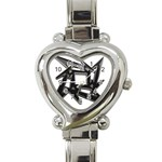 lark48B Heart Italian Charm Watch