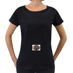 I76E Maternity Black T-Shirt