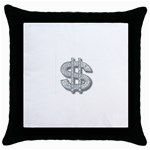 BucaleA118 Throw Pillow Case (Black)