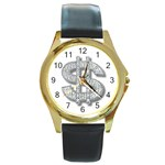 BucaleA118 Round Gold Metal Watch