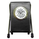 BucaleA118 Pen Holder Desk Clock