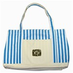 31035 Striped Blue Tote Bag