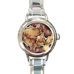 tabula_wallpaper-145984 Round Italian Charm Watch