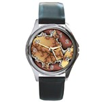 tabula_wallpaper-145984 Round Metal Watch