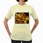 tabula_wallpaper-145984 Women s Yellow T-Shirt