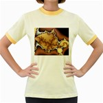 tabula_wallpaper-145984 Women s Fitted Ringer T-Shirt