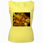 tabula_wallpaper-145984 Women s Yellow Tank Top