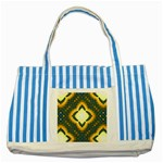 Subway_sign Striped Blue Tote Bag