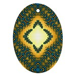 Subway_sign Oval Ornament (Two Sides)