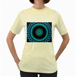 KaleidoFlower-208768 Women s Yellow T-Shirt