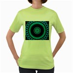 KaleidoFlower-208768 Women s Green T-Shirt