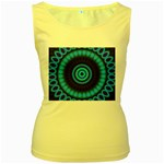 KaleidoFlower-208768 Women s Yellow Tank Top