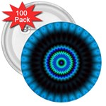 KaleidoFlower-208768 3  Button (100 pack)