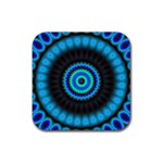 KaleidoFlower-208768 Rubber Coaster (Square)