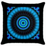 KaleidoFlower-208768 Throw Pillow Case (Black)
