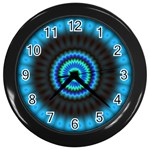 KaleidoFlower-208768 Wall Clock (Black)