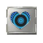 KaleidoFlower-208768 Mega Link Heart Italian Charm (18mm)