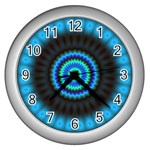 KaleidoFlower-208768 Wall Clock (Silver)