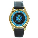 KaleidoFlower-208768 Round Gold Metal Watch