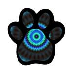 KaleidoFlower-208768 Magnet (Paw Print)