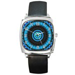KaleidoFlower-208768 Square Metal Watch